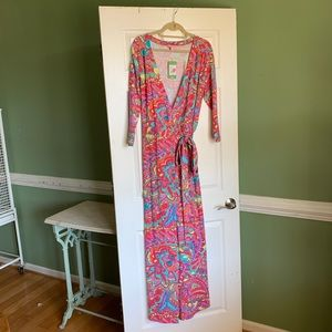 Lilly Pulitzer Maxi Tie Wrap Dress, Large, NWT